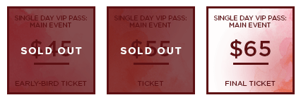 HHB 2017 Ticket MainEvent SingleDayVIP SO