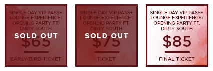 HHB 2017 Ticket OpeningParty SingleDayVIPLounge SO